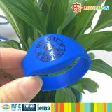 Браслет силикона RFID обеспеченностью 13.56MHz MIFARE DESFire EV1 2K Rewearable