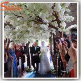 Cerezo artificial blanco de la fibra de vidrio de la decoración de la boda