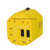 De universele Adapter van de Reis met USA/UK/EU/Aus Stop, Twee USB Output 2500mA