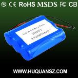 3.7V het Pak van de Batterij van 6600mAh 18650, de IonenBatterij van het Lithium