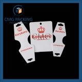 Collar de etiqueta personalizada tarjeta de la joyería de la tarjeta doblada (cmg-058)