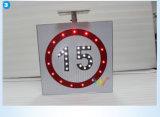 도로 안전 알루미늄 제한 속도 LED 태양 교통 표지