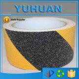 Cinta anti del resbalón del PVC del solvente impermeable negro de 80 arenas