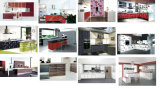 Armadi da cucina acrilici di legno personalizzati lucidi per la mobilia dell'hotel (acrilica per i portelli di armadietto)