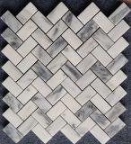 De witte Marmeren Tegel van de Badkamers van het Mozaïek