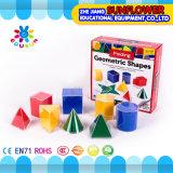 Os brinquedos educacionais Multi-Function plásticos ajustados prées-escolar do laboratório de ciência da geometria contínua ajustaram 12PCS. Modelo geométrico (equipamento educacional)