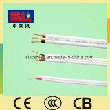 Câble plat de jumeau de fil électrique de 2 noyaux