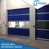 Промышленная дверь завальцовки, высокоскоростная дверь гаража, дверь PVC