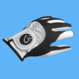 白いPUの総合的な革自由なサイズのゴルフ手袋