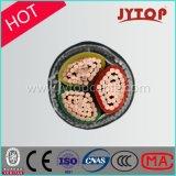 Alta tensão, cabo da alta tensão, três núcleos/cabo de cobre isolação Multicore de XLPE