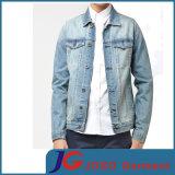 Rétro chemise affligée du denim des hommes (JC7045)