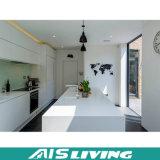 Mobília pintada branca do gabinete de cozinha do lustro elevado moderno (AIS-K065)
