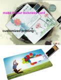 Cartão de visita impresso personalizado USB2.0 Unidades flash USB Memory Stick Pen Drive