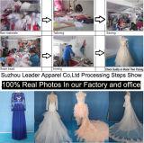 Schwarzer Samt-bördelt formaler Kleid-Kristall V-Ansatz kundenspezifisches Nixe-Abend-Kleid E142017
