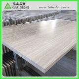 Mattonelle sottili di marmo di legno bianche