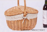 Hand Shank.를 가진 2 Doors Shopping Wicker Basket