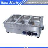 Грелка еды Sb-3t Bain Мари оборудования Cateing 3 лотков встречная верхняя электрическая