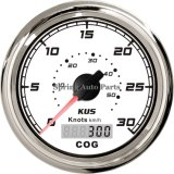 85mm quadrati GPS Speedometer 30 Knots con Compass 12V 24V