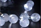 Lumière de Noël solaire de bulle de lumière de chaîne de caractères de l'énergie solaire DEL Lh-Sq20