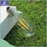 Lâmpada do bulbo da vela do filamento do diodo emissor de luz de E14 E27