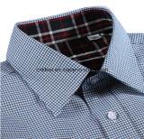 3つのカラー黒くおよび赤い小切手の内部カラーが付いている小さいHoundstoothのワイシャツ