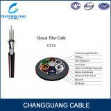 Cable óptico de Fiebr del tubo flojo de la base de GYTS Changguang 24