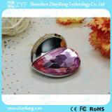 Привод пер USB ювелирных изделий серебряной формы сердца привесной акриловый (ZYF1907)