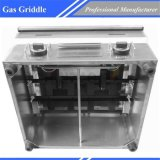 Contre- gauffreuse Gpl-750 de gaz de gueulard de matériel commercial de restaurant