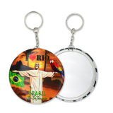 Fabrik Highquality Tinplate Key Chain Souvenir Key Ring mit Mirror