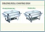 Hoogste Chafing van het Broodje van Guangzhou van Wintoo Langwerpige Schotel met Gollden
