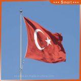 국기 터어키 주문 깃발 Sunproof는 방수 처리한다