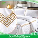 Постельные принадлежности хлопка поставкы гостиницы дешевые установили для квартиры гостиницы