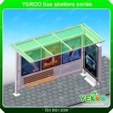 屋外広告の太陽エネルギーのステンレス鋼のバス停の避難所