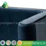 Europäisches Art-Plüsch-Sofa-königliches Blau-Sofa für Wohnzimmer