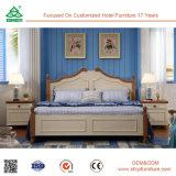 Klassisches Weinlese-Art-festes Holz-doppeltes Bett konzipiert reine Walnuss-hölzerne Bett-Beine