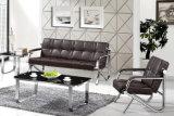 Qualitäts-populärer neuer Entwurfs-moderne Büro-Leder-Sofa-Sets, die Sofa auf Lager 1+1+3 warten