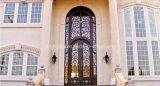 Eingang kundenspezifische bearbeitetes Eisen-Schwingen-Tür
