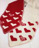 Шерсти шлема малыша мальчиков ребёнков Hoodie зимы Yonger связали установленный шарф печати сердца крышки Beanie вязания крючком (HW604S)
