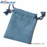 Sac de cordon bleu de velours pour la coutume d'usine de Gift&Jewelry