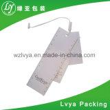 Etiqueta de papel de encargo de la caída de la fuente de la fábrica para la ropa o el equipaje