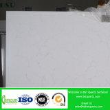 磨かれる霧深い静脈が付いている彫像用の白い水晶平板