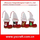 Décoration de Noël (ZY14Y149-1-2) Pleuche Velvet Tissu Chaussures de Noël