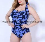 Крупноразмерный Swimsuit для женщин, износ заплывания печати леопарда Плюс-Размера цельный