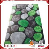 Tapetes de área Shaggy modernos internos com efeitos de pedra