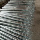 Piles au sol hélicoïdales de vis de poste spiralé pour la base des brides photovoltaïques solaires