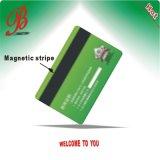 Tarjeta brillante popular del PVC con la raya magnética