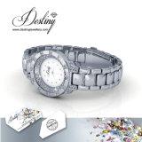Swarovskiからの運命の宝石類の水晶は水晶腕時計を引き締めた