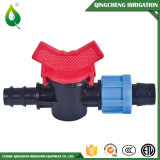 Válvula de riego de plástico mini Driptape Barb bloqueo de extracción
