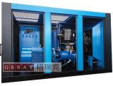 Compresor de aire con tornillos rotativos lubricados con aceite de doble rotor