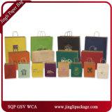 Bolso brillante del regalo del papel de Kraft del color, bolsa de papel, bolso de papel del regalo, bolso de compras de papel